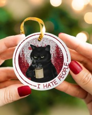 I HATE PEOPLE Circle ornament - single (porcelain) aos-circle-ornament-single-porcelain-lifestyles-08