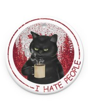 I HATE PEOPLE Circle ornament - single (porcelain) front
