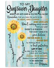 TO MY SUNFLOWER DAUGHTER  Vertical Poster tile