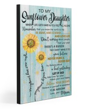 TO MY SUNFLOWER DAUGHTER  20x30 Gallery Wrapped Canvas Prints front