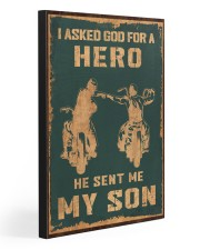 I ASKED GOD FOR A HERO 20x30 Gallery Wrapped Canvas Prints front