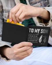 TO MY SON - BIKER  Mini Wallet aos-mini-bifold-wallet-lifestyle-front-16