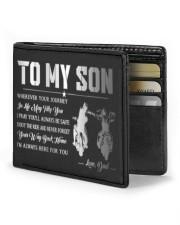 TO MY SON - BIKER  Mini Wallet front
