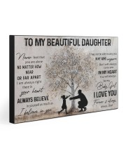 TO MY BEAUTIFUL DAUGHTER  30x20 Gallery Wrapped Canvas Prints front