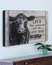 LIVE LIKE SOMEONE LEFT THE GATE OPEN 30x20 Gallery Wrapped Canvas Prints aos-canvas-pgw-30x20-lifestyle-front-01