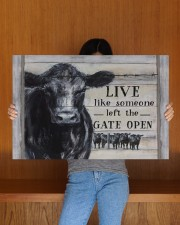 LIVE LIKE SOMEONE LEFT THE GATE OPEN 30x20 Gallery Wrapped Canvas Prints aos-canvas-pgw-30x20-lifestyle-front-22
