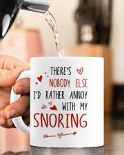 NOBODY ELSE I'D RATHER ANNOY WITH MY SNORING Mug ceramic-mug-lifestyle-65