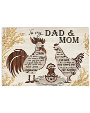 TO MY MOM AND DAD  Horizontal Poster tile