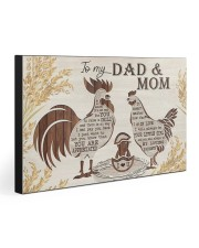 TO MY MOM AND DAD  30x20 Gallery Wrapped Canvas Prints front