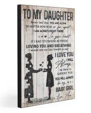 TO MY DAUGHTER - NURSE  20x30 Gallery Wrapped Canvas Prints front