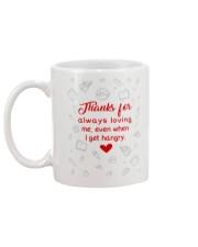 THANKS FOR ALWAYS LOVING ME  Mug back