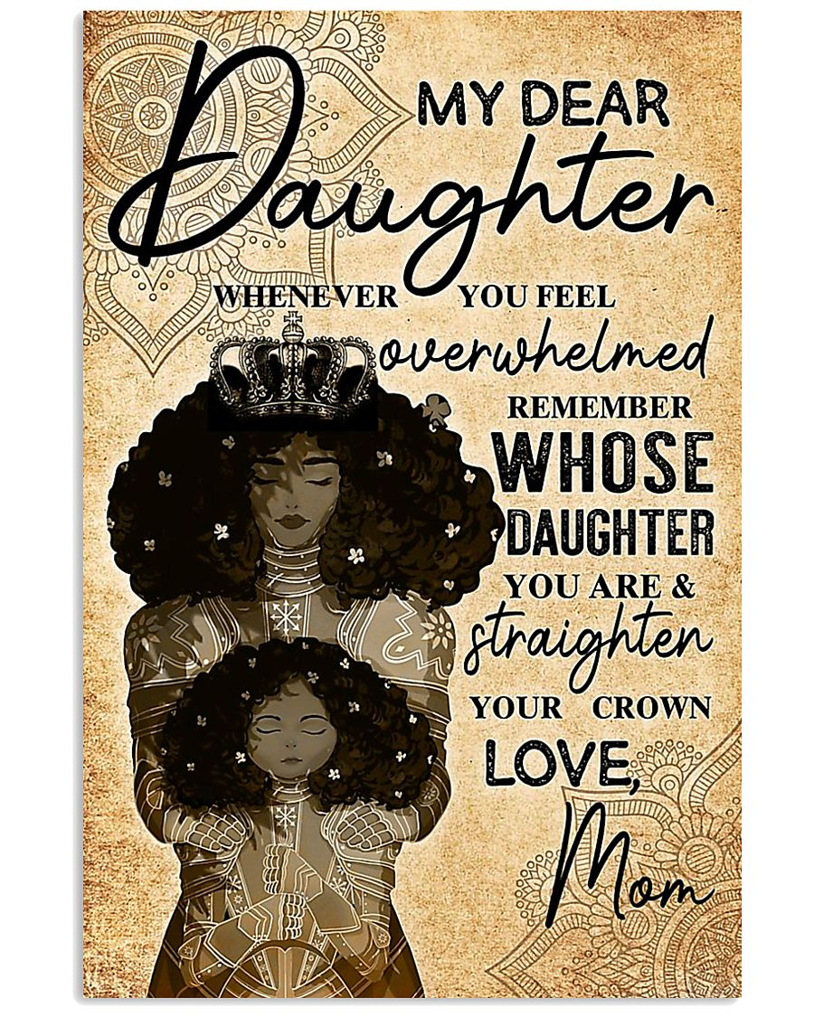 TO MY DAUGHTER - MB246 11x17 Poster