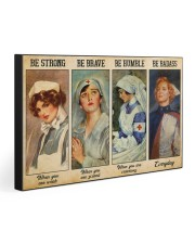 BE STRONG BE BRAVE BE HUMBLE BE BADASS 30x20 Gallery Wrapped Canvas Prints front