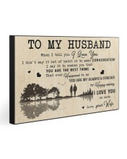 TO MY HUSBAND  30x20 Gallery Wrapped Canvas Prints front