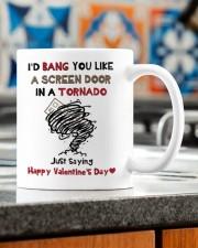 I'D BANG YOU LIKE A SCREEN DOOR IN A TORNADO  Mug ceramic-mug-lifestyle-57