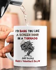 I'D BANG YOU LIKE A SCREEN DOOR IN A TORNADO  Mug ceramic-mug-lifestyle-65