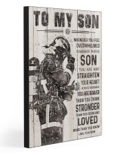 TO MY SON - FIREFIGHTER 20x30 Gallery Wrapped Canvas Prints front