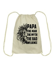 THE MAN THE MYTH THE BAD INFLUENCE - MB118 Drawstring Bag thumbnail