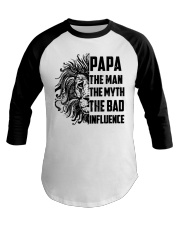 THE MAN THE MYTH THE BAD INFLUENCE - MB118 Baseball Tee tile