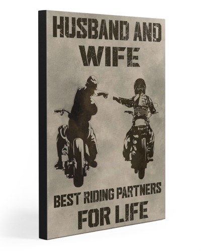 HUSBAND AND WIFE RIDING PARTNERS FOR LIFE