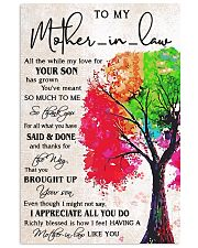 TO MY MOTHER-IN-LAW Vertical Poster tile