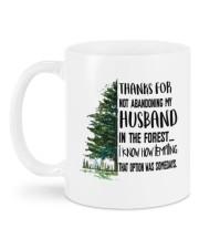 THANKS FOR NOT ABANDONING MY HUSBAND Mug back