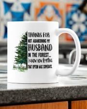 THANKS FOR NOT ABANDONING MY HUSBAND Mug ceramic-mug-lifestyle-57