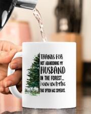 THANKS FOR NOT ABANDONING MY HUSBAND Mug ceramic-mug-lifestyle-65