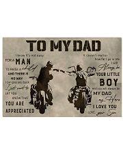 TO MY DAD - BIKER- MB284 24x16 Poster thumbnail