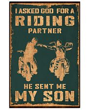 I ASKED GOD FOR A RIDING PARTNER 11x17 Poster thumbnail