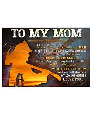 TO MY MOM - FIREFIGHTER Horizontal Poster tile