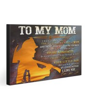 TO MY MOM - FIREFIGHTER 30x20 Gallery Wrapped Canvas Prints front