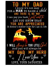 TO MY DAD - MB156 11x17 Poster front