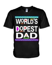 WORLD'S DOPEST DAD - MB232 V-Neck T-Shirt thumbnail