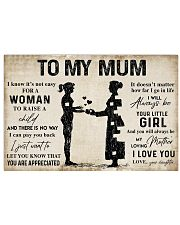 TO MY MUM  Horizontal Poster tile