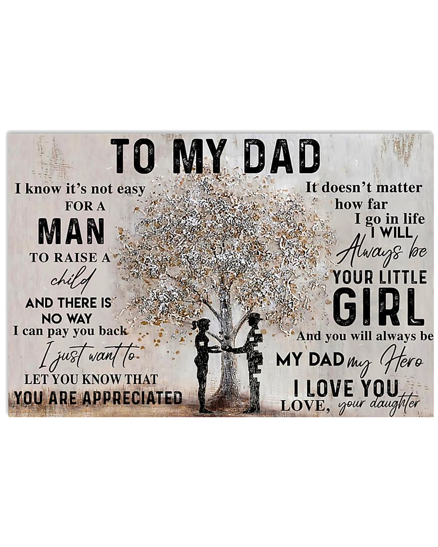 IT'S NOT EASY FOR A MAN TO RAISE A CHILD  24x16 Poster