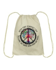 Into the forest I go  Drawstring Bag thumbnail