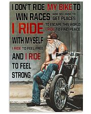 I RIDE TO FEEL STRONG  11x17 Poster thumbnail