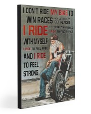I RIDE TO FEEL STRONG  20x30 Gallery Wrapped Canvas Prints front