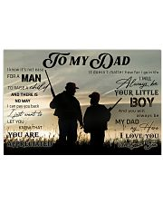 TO MY DAD - HUNTING Horizontal Poster tile