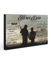 TO MY DAD - HUNTING 30x20 Gallery Wrapped Canvas Prints front
