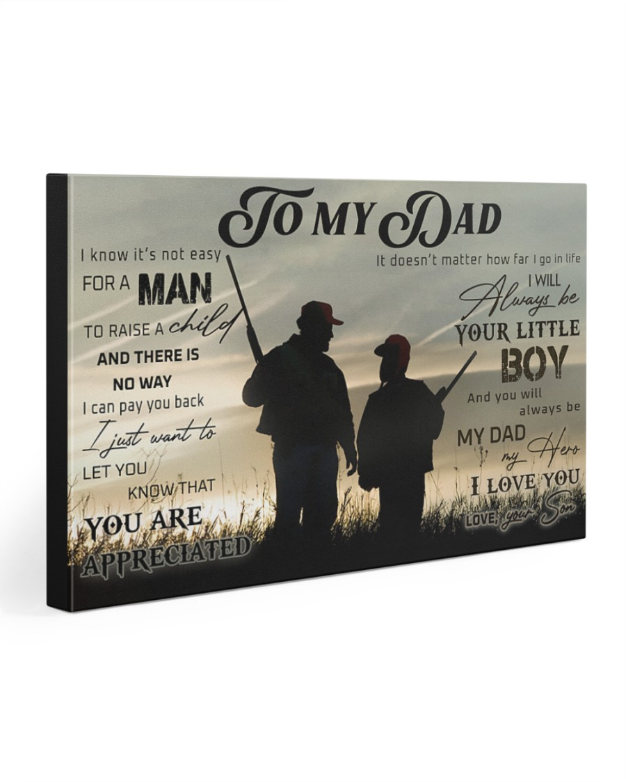 TO MY DAD - HUNTING - MB307 30x20 Gallery Wrapped Canvas Prints