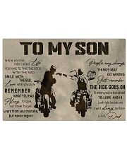TO MY SON  Horizontal Poster tile