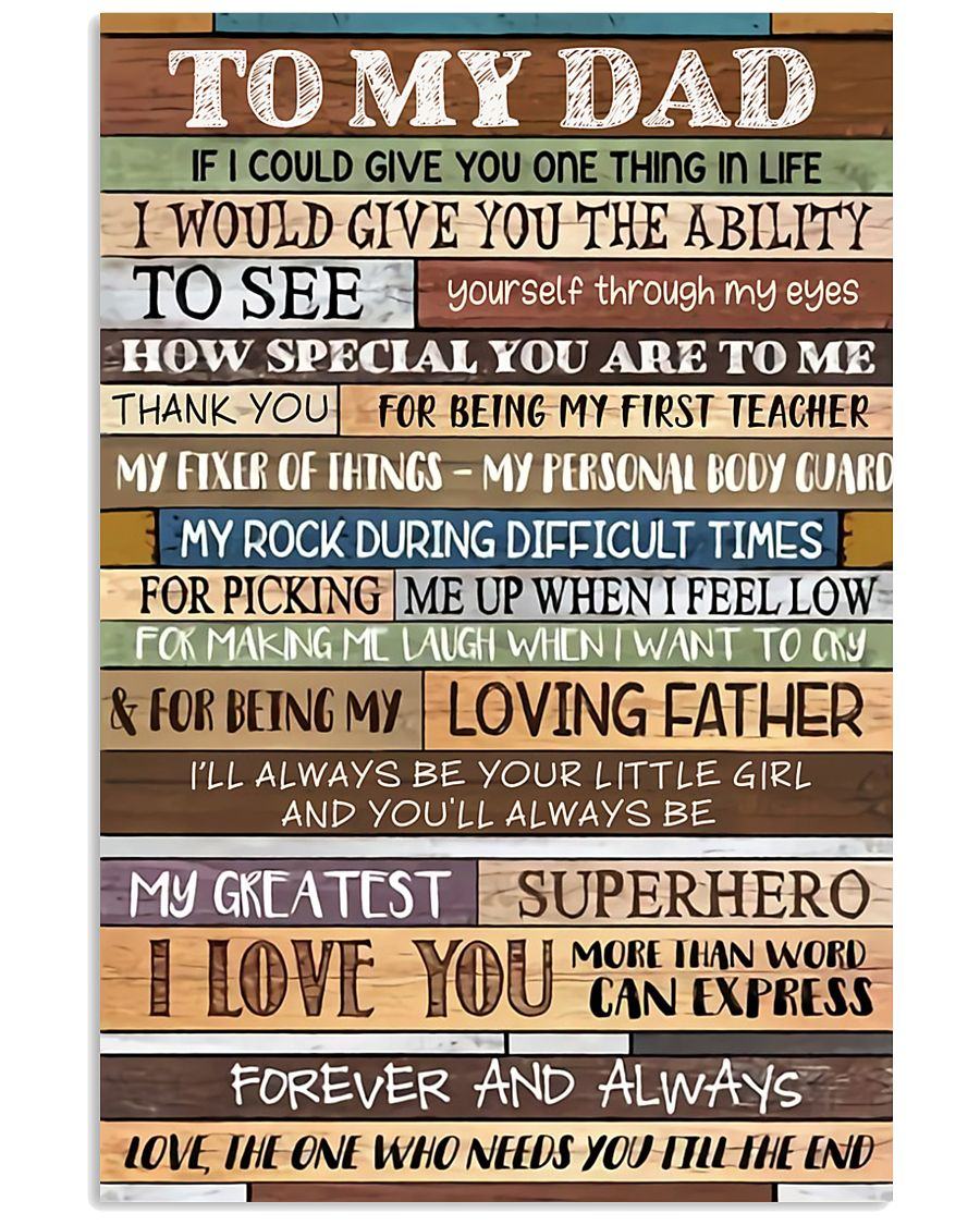 TO MY DAD - MB275 24x36 Poster