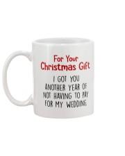 NOT HAVING TO PAY FOR MY WEDDING  Mug back