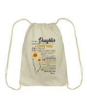 TO MY DAUGHTER Drawstring Bag thumbnail