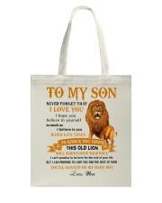TO MY SON - MB350 Tote Bag thumbnail