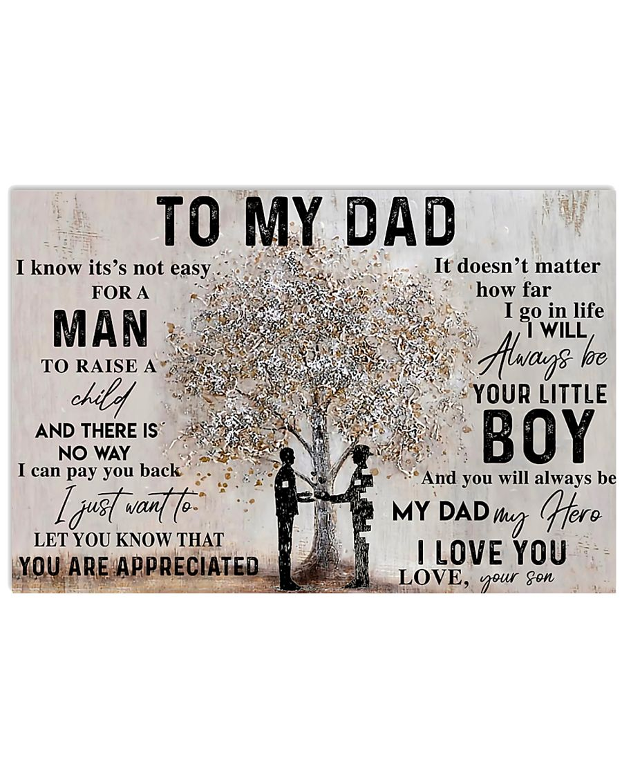 TO MY DAD - MB107 24x16 Poster