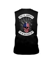 THIS IS AMERICA FIT IN OR FUCK OFF Sleeveless Tee thumbnail