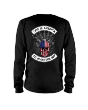 THIS IS AMERICA FIT IN OR FUCK OFF Long Sleeve Tee thumbnail